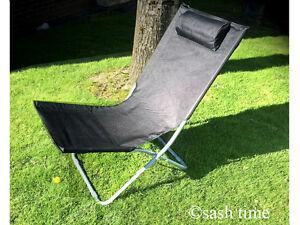 nouveau pliable transat chaise de jardin soleil plage camping patio pont lit appui t te ebay. Black Bedroom Furniture Sets. Home Design Ideas
