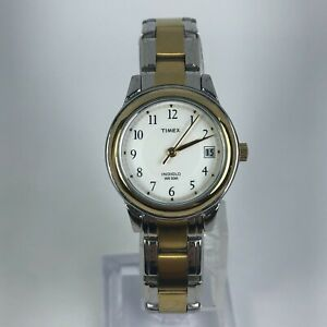 Timex-Indiglo-Womens-Weekender-CR-1216-Cell-Two-Tone-Stainless-Steel-Band-Watch