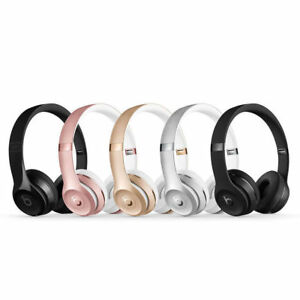 New Beats By Dr Dre Solo 3 Wireless Headphones Black Gold Blue Pop Colors Ebay