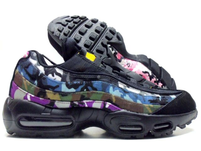 best loved a2f4e f5c10 Nike Air Max 95 ERDL Party Black Multicolor Ar4473 001 Men's Size 9