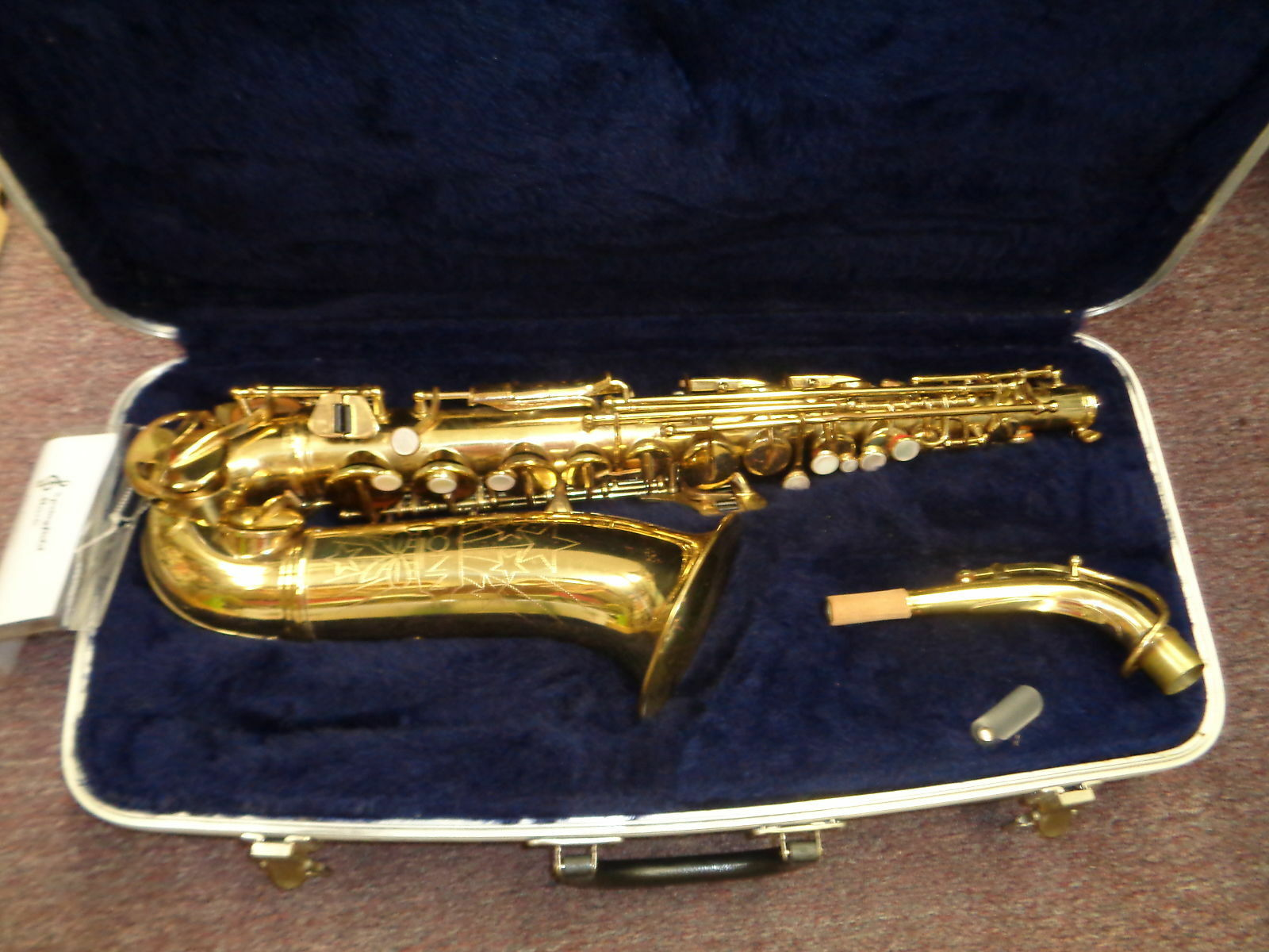 Conn Vintage Alto Saxophone Gold with case Serviced Used