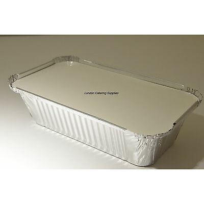 100 x No6a Catering Aluminium Foil Food Container Take Away Box