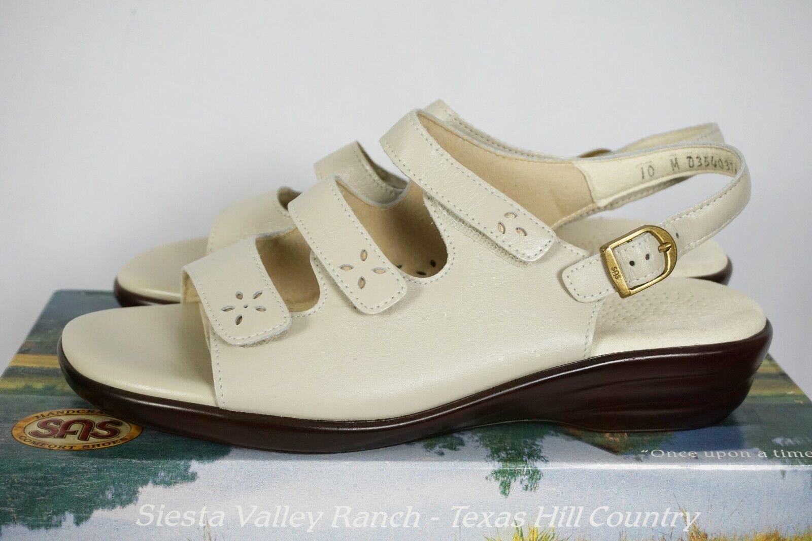 SAS Quatro Bone 3 Strap Comfort Sandals Womens Sz 10 M - NIB