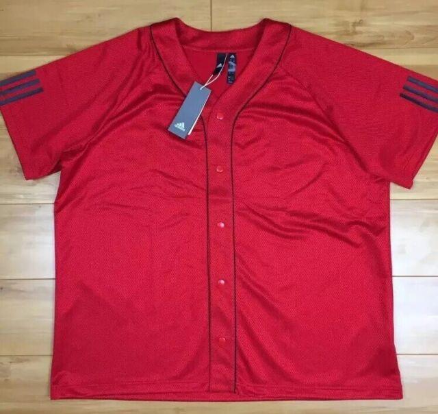 adidas Mens 2xl Red Sport Baseball Jersey for sale online | eBay