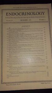 Revista Endocrinología The Boletín Of The Association FOR.VOL.25 1939 N º 6