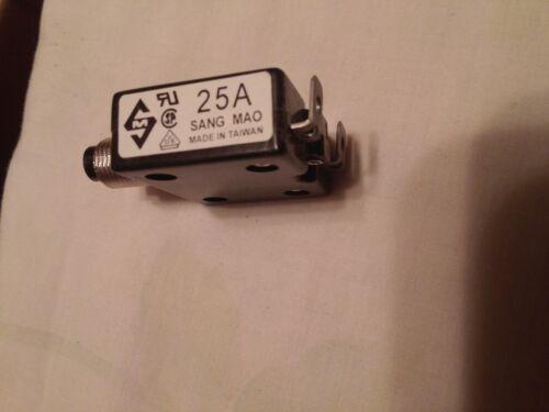 Sang Mao 25 amp  push to reset breaker  A-0701 125//250V AC  50V DC 25A