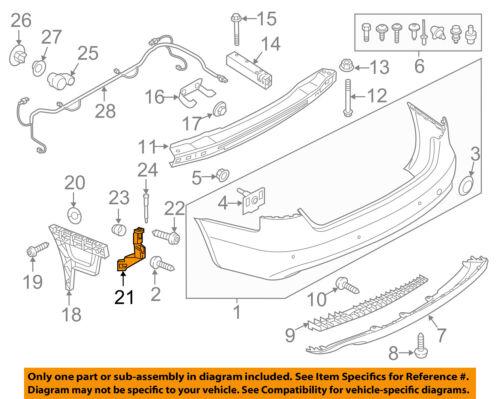 AUDI OEM 09-16 A4 Quattro Rear Bumper-Upper Guide Left 8K5807889A