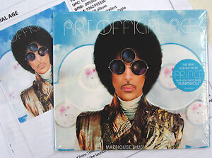 PRINCE-CD-Art-Official-Age-13-Track-solo-studio-Album-2014-PROMO-Sheets-SEALED