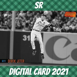 Topps Bunt 21 Derek Jeter Stadium Club Orange Base S/1 2020 Digital Card