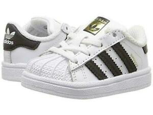Details about Adidas Superstar I BB9076 White Black Infant Toddler Baby Girls Boys Shoes Sizes