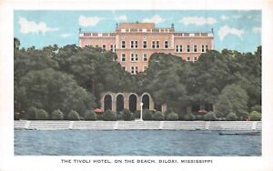 Tivoli Hotel On The Beach Biloxi Mississippi Postcard Ebay