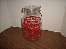 Vintage Carlton Glass Cookie Jar COOKIE CLUB MEMBERS ONLY ! Great Shape USA