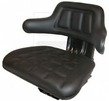 Black Universal Tractor Seat W Base For Ford New Holland Case Ih Deutz Zetor