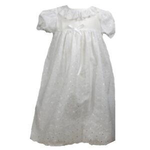 Precious-Sweet-Petit-Ami-Lined-Cotton-Eyelet-Christening-Ruffle-Dress-Hat-Set