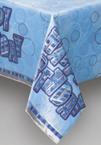 90//90th Azul Glitz Fiesta de Cumpleaños GAMA-Fiesta//placas//Servilletas//pancartas//cups