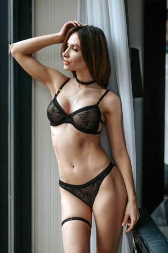 PETITENOIR Spitzen-String Tanga Schwarz Transparent Sündig Black Lace Thong