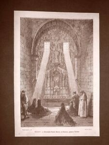 Incisione-Gustave-Dore-del-1874-Chiesa-di-Santa-Maria-a-Illescas-Toledo-Spagna