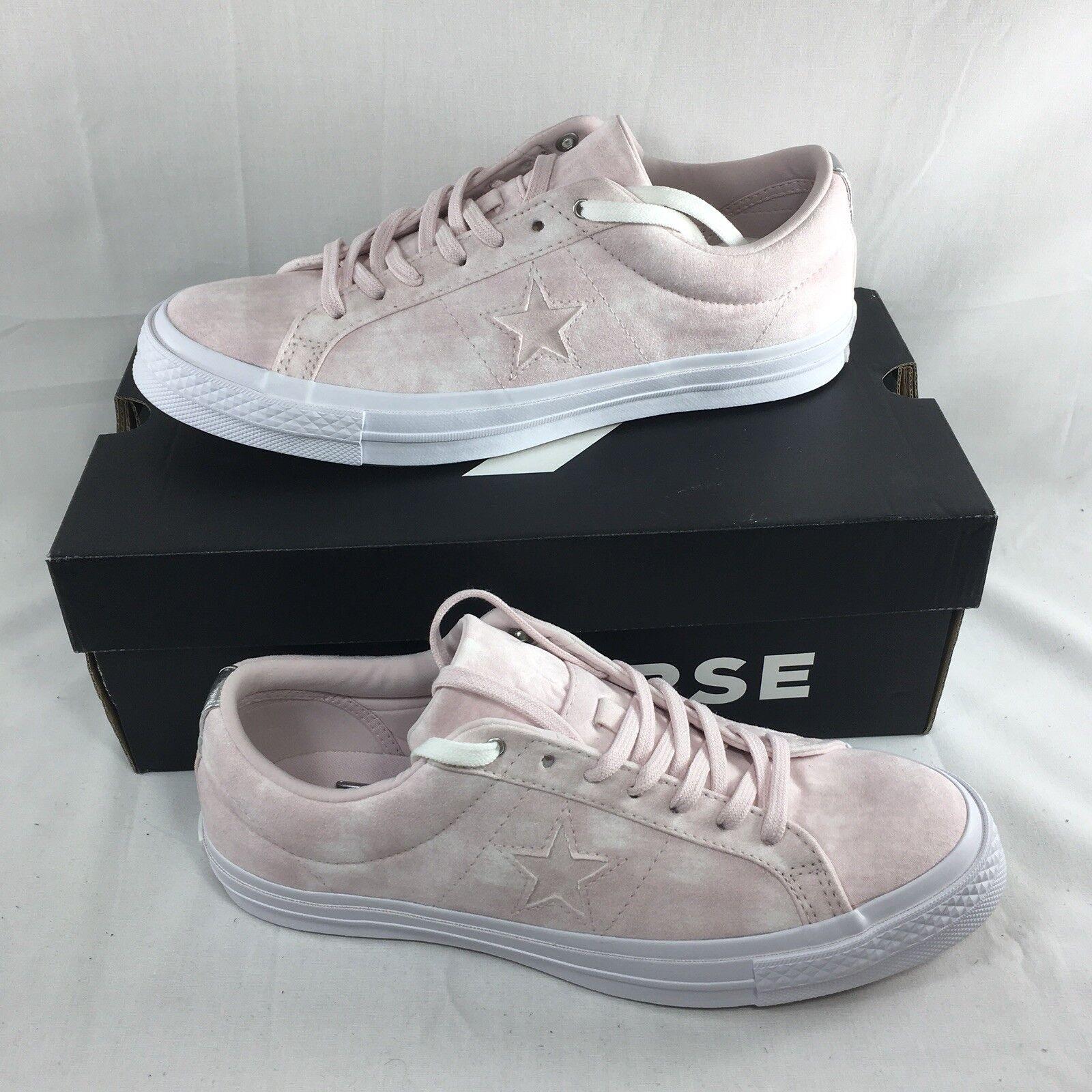 Converse One One Converse Star Ox Zapatos Mujeres 10 hombres 8 rosado rosado 159711C Gamuza Patineta 223beb