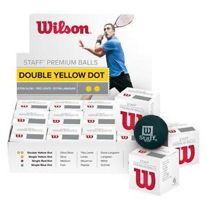 Wilson Staff Balles De Squash Une Douzaine Un 12x Gratuit Envoi Sur Chenilles
