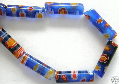 13x4 MM MILLEFIORI perles de verre laminage strang m6-08
