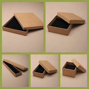 Image Is Loading Natural Brown Jewellery Gift Box Ring Necklace Bracelet