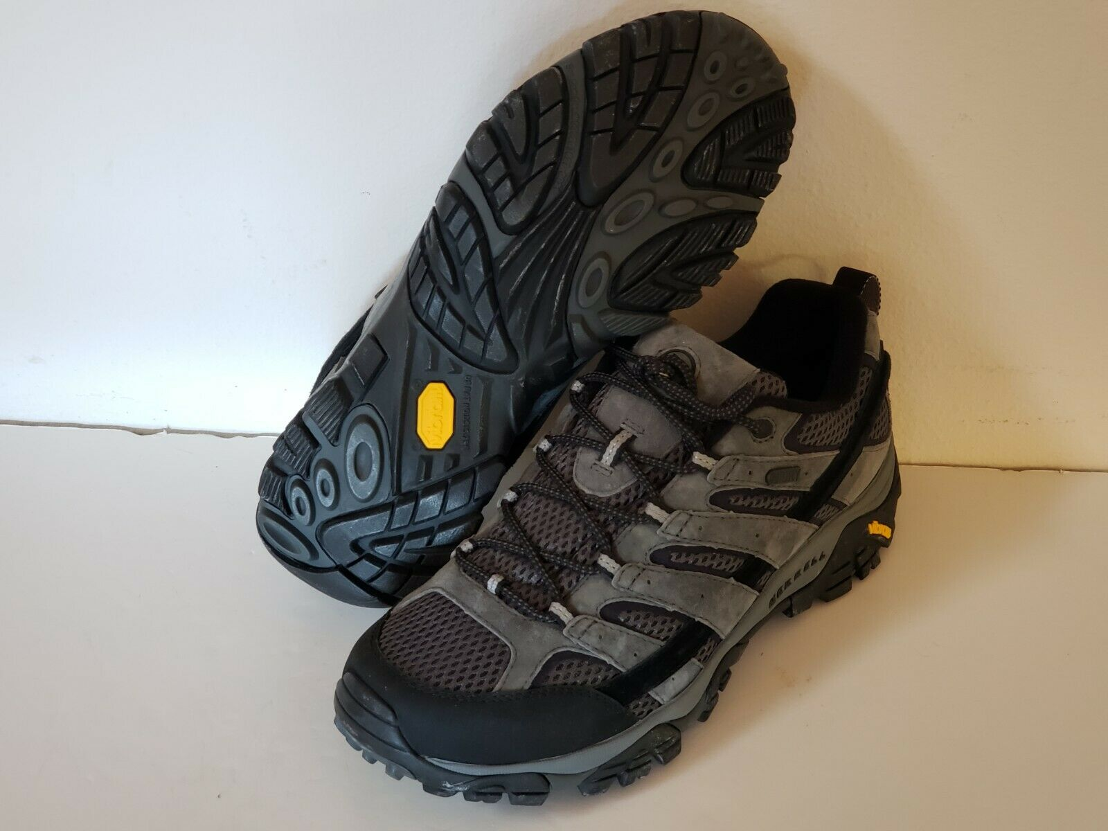 MM64 New Merrell Moab 2 WP Leather Trek Hiking Stiefel Sie 9 Charcoal Reg 120