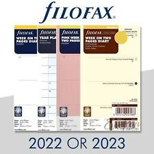 Filofax Personal Size Diary Insert Refills Select Year 2022 Or 2023