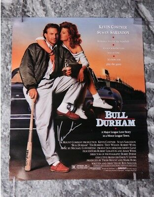 Gfa Bill Durham Movie Signed 12x18 Poster Ad1 Coa Kevin Costner