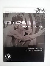 """Bruce Lee """"THE ART OF ACTION"""" Rare Nov 2009 Booklet"""