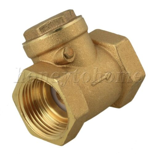 1Inch  BSPP Swing Check Valve Prevent Water Two-way Type Backflow Golden