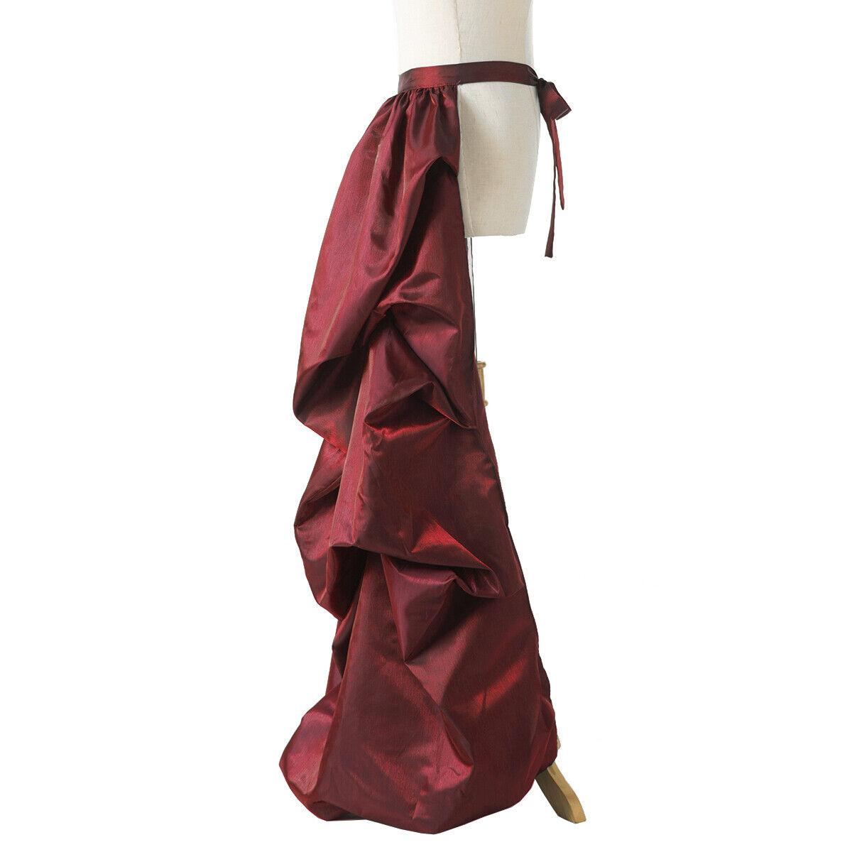 Vintage Victorian Edwardian Bustle Skirt Fancy Dr… - image 4