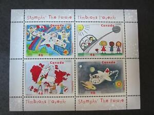 Canada mint never hinged souvenir sheet , 1862b, stampin, children's art