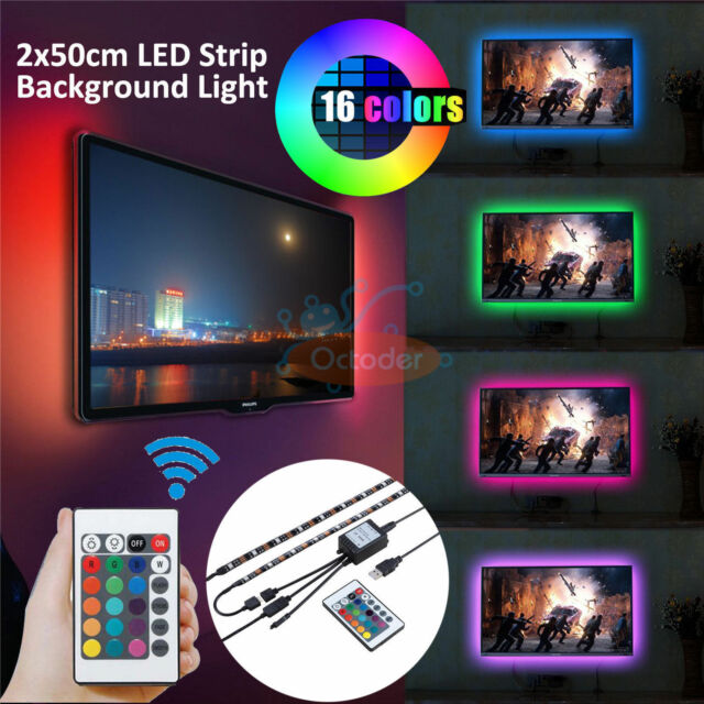 2x50cm rgb 5050 flexible led light strip tv background lighting for 2x50cm rgb 5050 flexible led light strip tv background lighting for hdtv lcd pc aloadofball Gallery