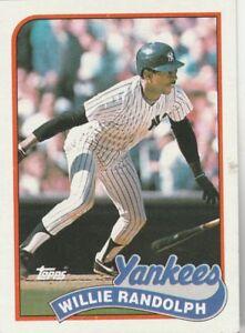 FREE-SHIPPING-MINT-1989-Topps-635-Willie-Randolph-New-York-Yankees-BONUS-CARDS