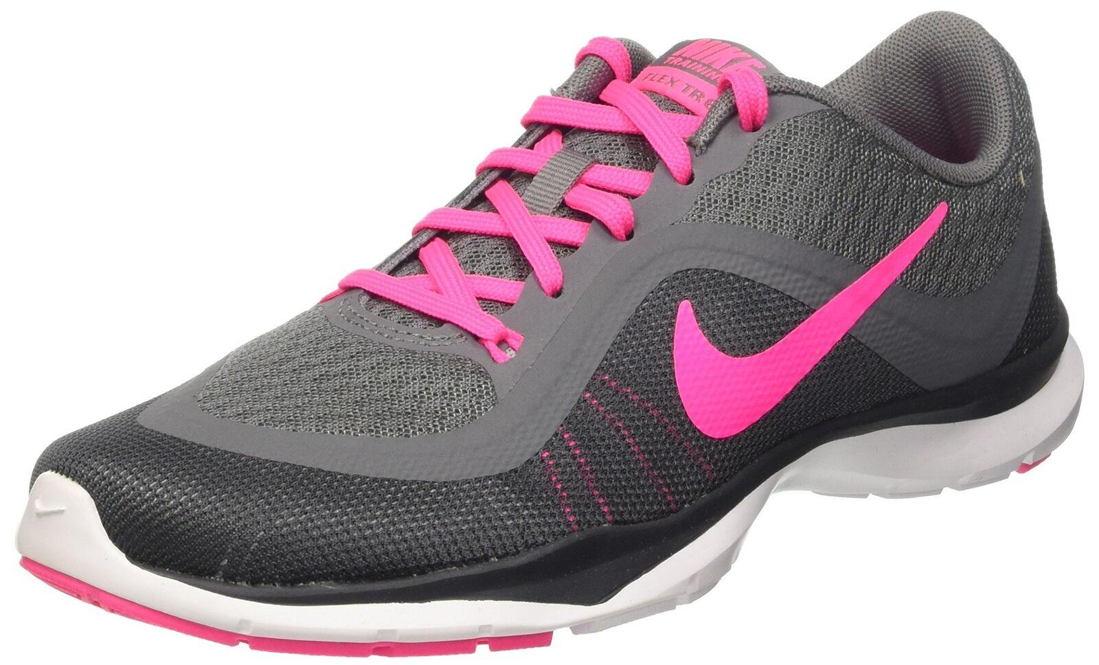NIKE Women's Flex Trainer 6 Cool Grey/Pink Blast 7.5 B(M) US