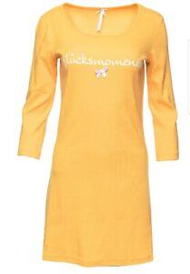 "LOUIS & LOUISA  Nachthemd  "" Glücksmomente ""  Rippe gelb Gr. XXL    NEU"