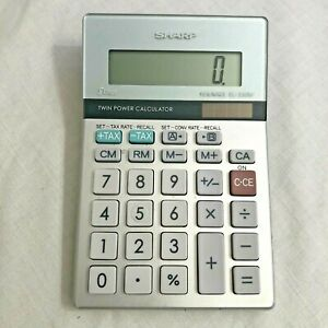 SHARP Elsimate EL-330M 8 Digit Calculator Twin Power Calculator & Users Manual Z