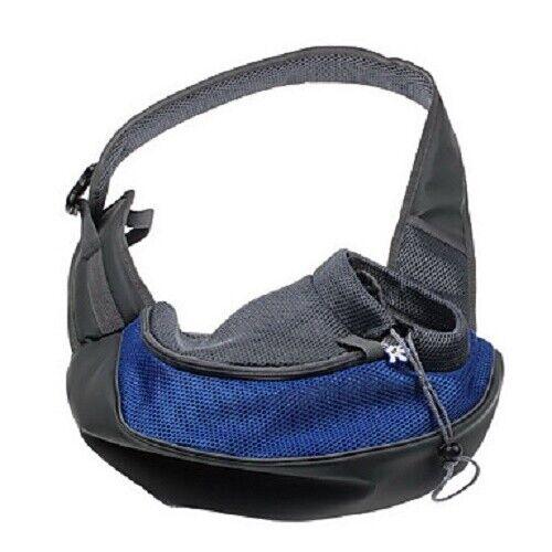 Sac de transport Sac à dos avant pour petit chien ou chat bleu  et gris
