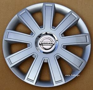 """Black//Silver 14/"""" wheel trims Covers to fit Nissan Micra,Pixo Hub Caps"""