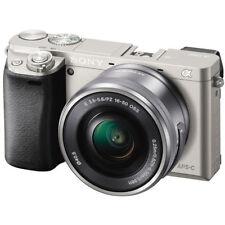 Sony Alpha a6000 24.3 MP Digital Camera - Silver (Kit w/ E PZ OSS 16-50mm Lens)