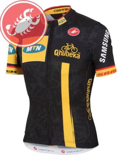 Castelli Qhubeka Men/'s Full Zip Short Sleeve Cycling Jersey BEST SELLER