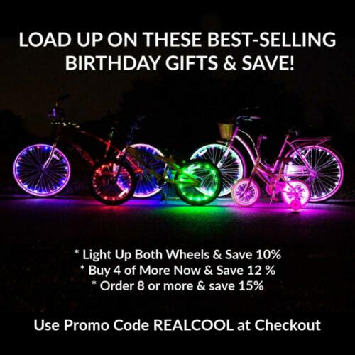 Blue Get 1-Wheel Activ Life LED Bike Wheel Lights with Batteries Included