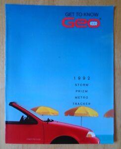 Details about GEO Range 1992 USA Market sales brochure - Storm Prizm  Tracker Metro