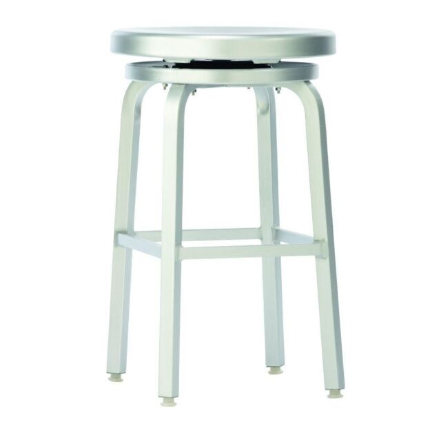 Wondrous Swivel Bar Stool Melanie Brushed Aluminum Indoor Outdoor Kitchen Durable 24 In Squirreltailoven Fun Painted Chair Ideas Images Squirreltailovenorg