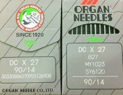 ORGAN DCX27 B27 MY1023 SY6120 100//16 INDUSTRIAL OVERLOCK SEWING MACHINE NEEDLES