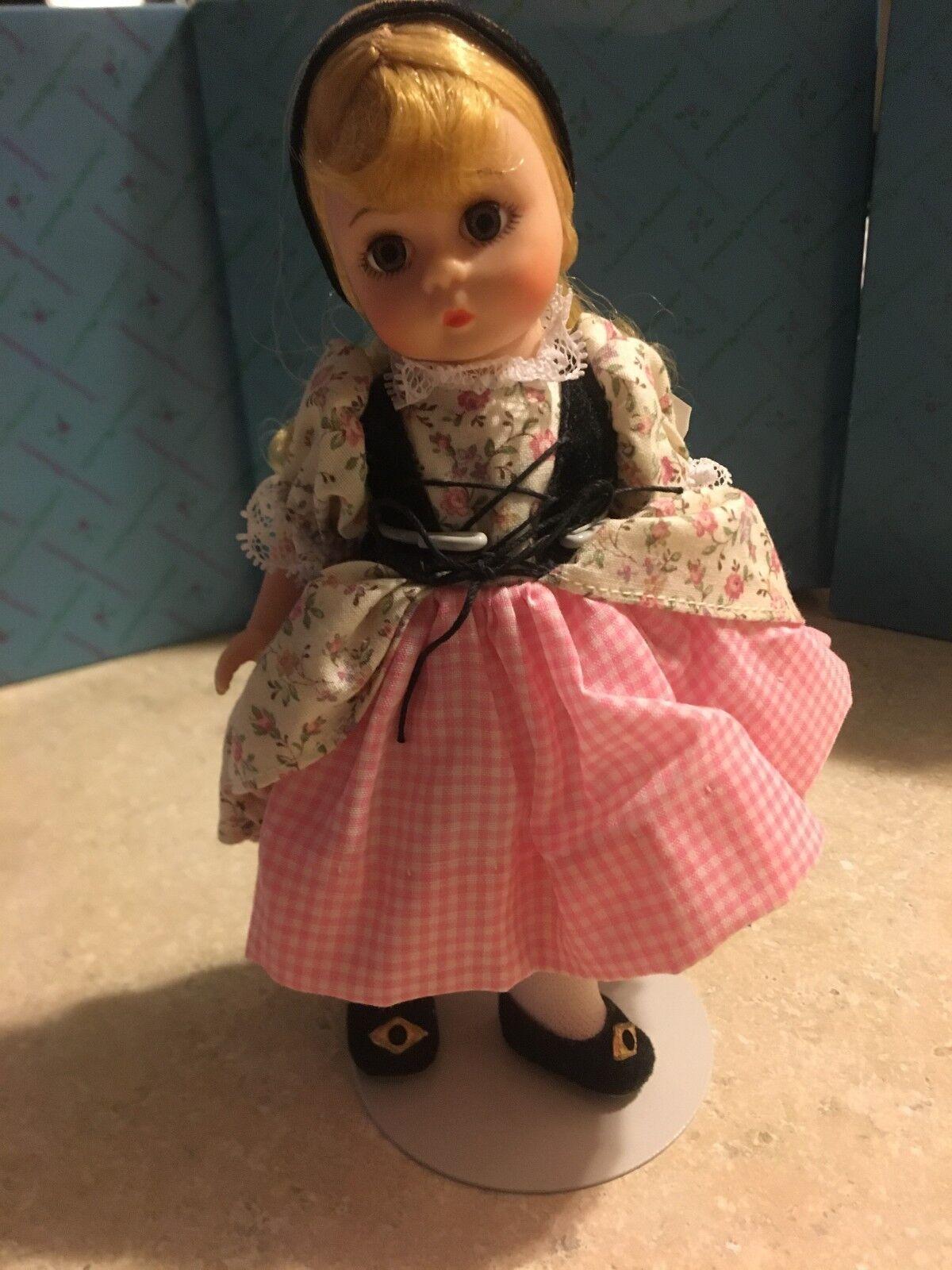 MADAME ALEXANDER 497 GoldILOCKS Doll, New, Original Verpackungaging & Stand