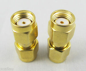 1 pcs SMA RP Male to SMA RP Male Coaxial Adapter RF Connector RP Gold Plated