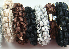3p Girls elastic Popcorn hair Bands Scrunchie Ponytail Holder Hair Accessorie d8