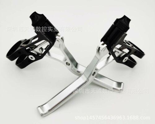 1 pair  DH MTB Bicycle CNC Aluminium Road Mountain Bike Brake Levers110MM*80MM