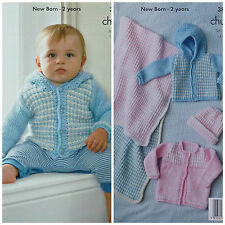 aa7a14e2e3d3 Knitting Pattern Leaflet King Cole 2980 Babies DK and 4 Ply ...